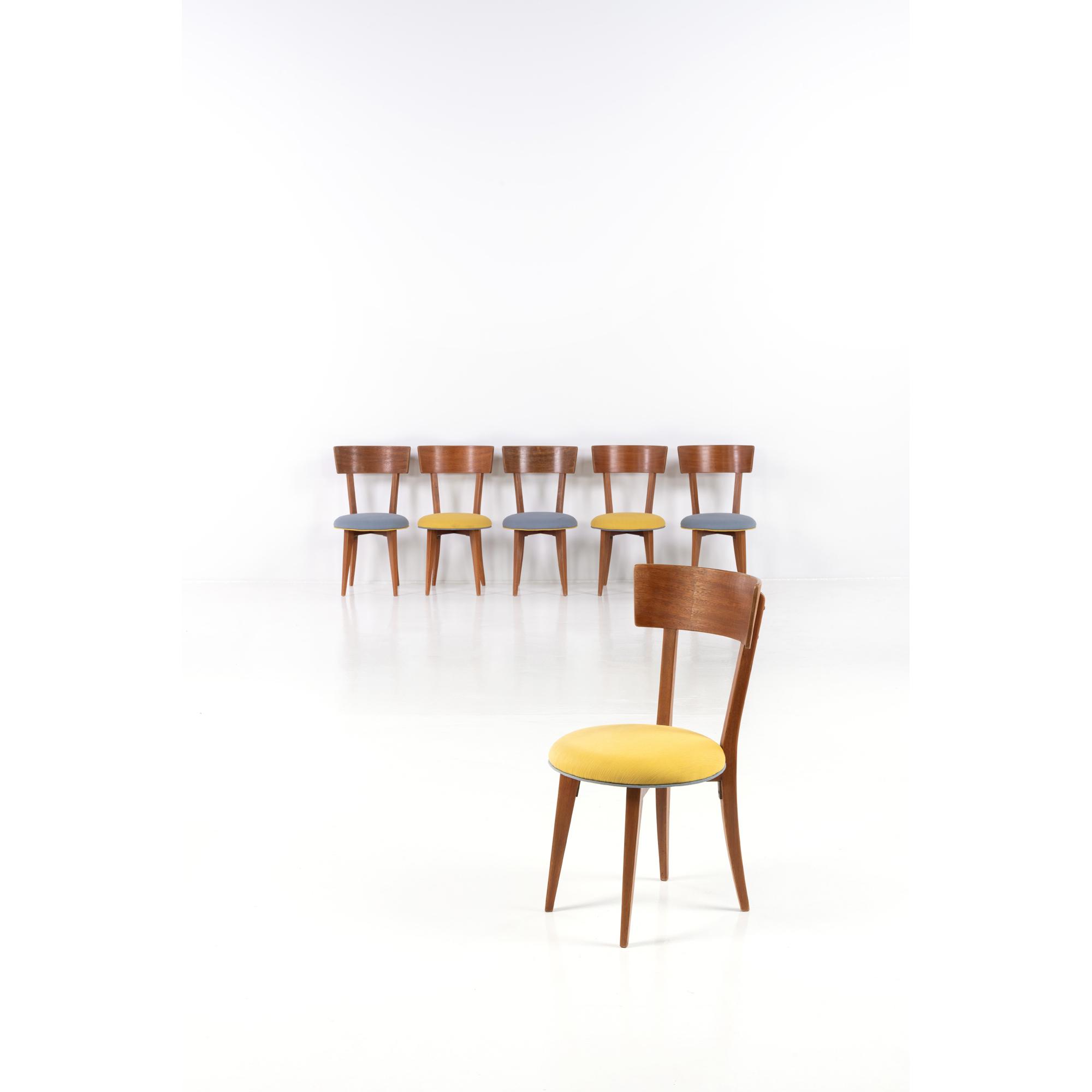 ƒ Joaquim Tenreiro (1906-1992) Série de six chaises